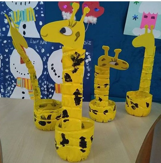 Math And Science Classroom Decorations ~ Plastic bottle giraffe craft « preschool and homeschool