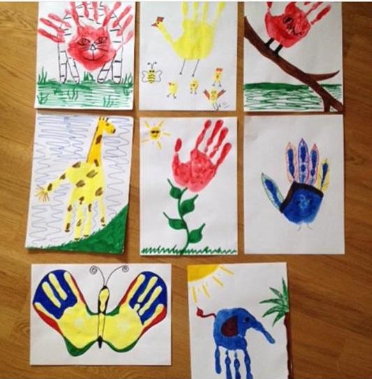 Photo of Handprint artwork ideas