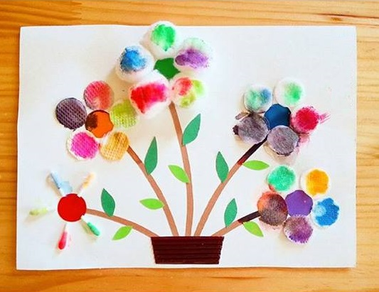 Photo of Cotton pads craft and art ideas