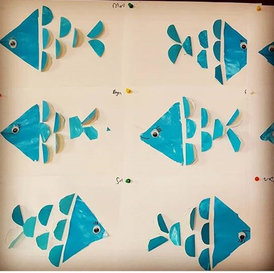 Folding paper fish craft for kids 1 preschool and for Fish activities for preschoolers