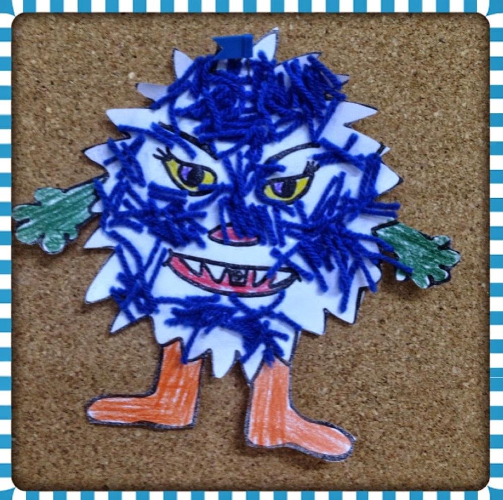 germ craft with yarn funnycrafts