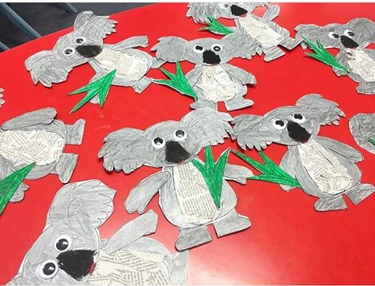 paper koala craft idea Preschool