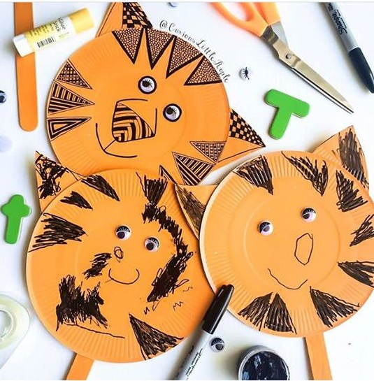 Photo of Tiger craft idea for preschoolers