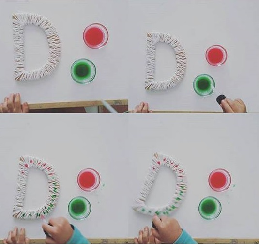 Photo of Name recognition activities