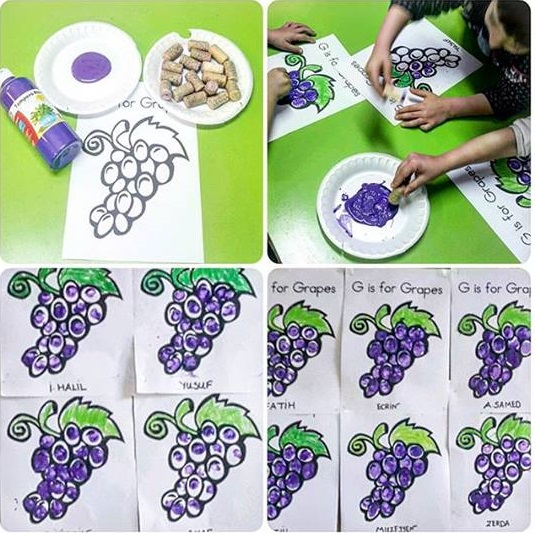 G Is For Grape Painting on Science Crafts For Preschoolers