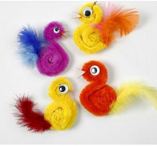 Bird Craft With Pipe Cleaner on Shapes Activities Preschoolers