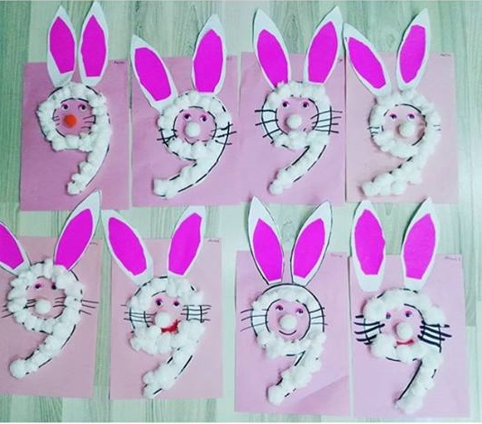 Bunny Craft For Kids Fine Motor Easter Egg Decorating