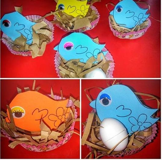 Bird nest craft for preschool