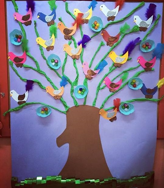 Spring tree craft for preschoolers