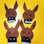 Donkey craft idea for kids