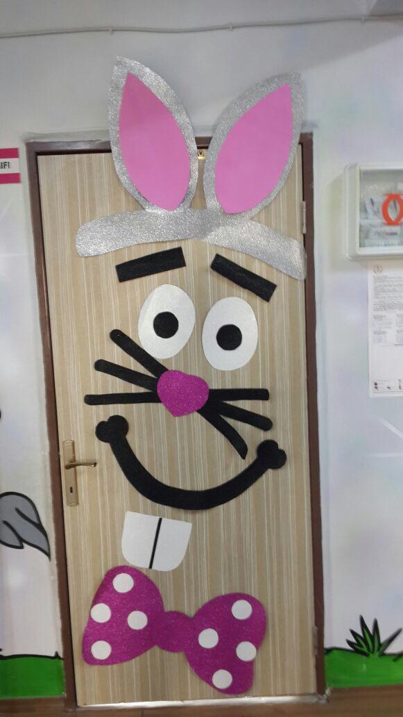 Easter Bunny Crafts For Preschoolers Door Decoration