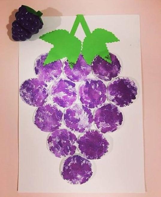 Language Arts Classroom Decorations ~ Grape art activity « funnycrafts