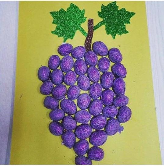 Grape Craft With Walnut Shell 171 Preschool And Homeschool