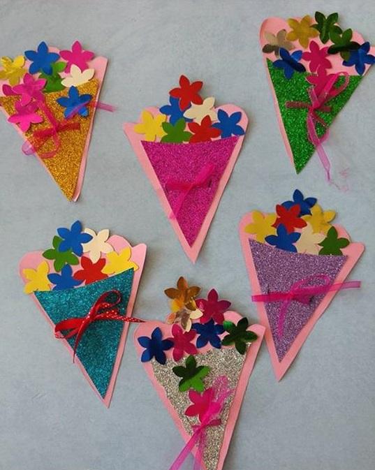 International women s day flower craft funnycrafts for Craft women s run