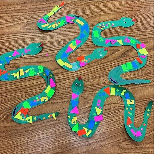 kids snake craft Preschool and