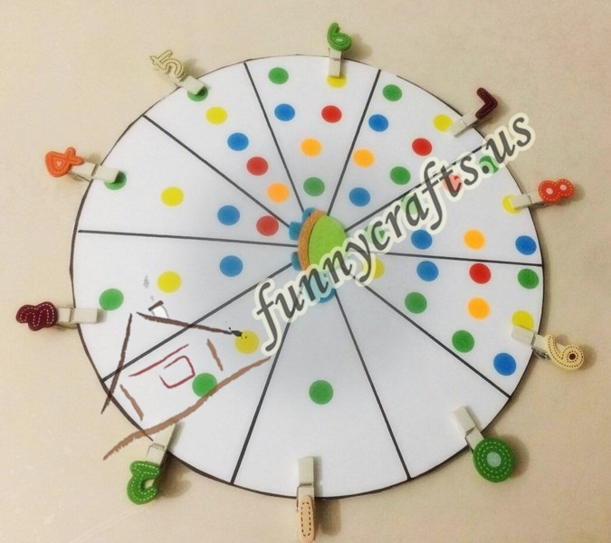 Photo of Number match counting wheel