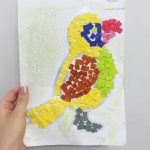 Mosaic craft for preschoolers