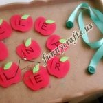 Button Worm Fine Motor and Apple Name Activities