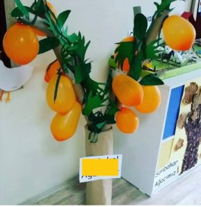 Orange craft for preschool Funny