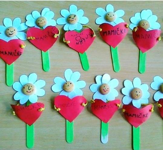 pop stick daisy craft Preschool