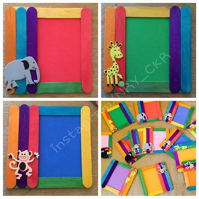 Pop Stick Photo Frame Project on Cute Spring Bulletin Board Ideas