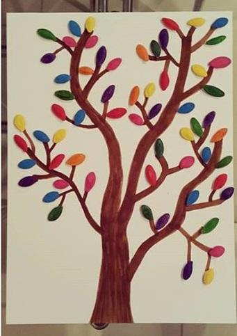 Spring Tree Craft For Preschoolers Pumpkin Seeds