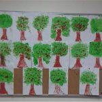 Sponge printing for kindergarten art activities
