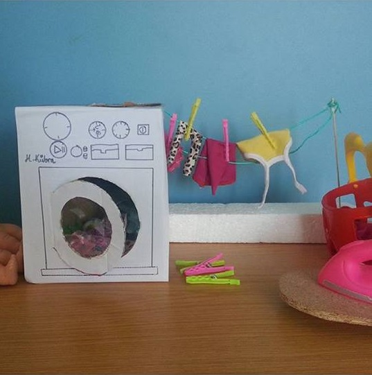Make A Washing Machine Out Of Cardboard Funny Crafts