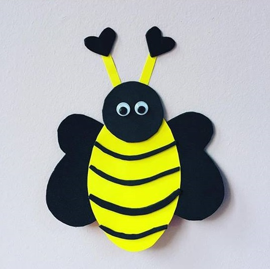 Photo of Bee craft for preschoolers
