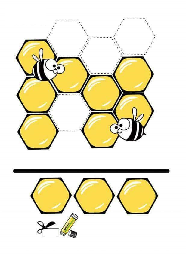 cut paste activites worksheets and printables bee funnycrafts – Bee Worksheets