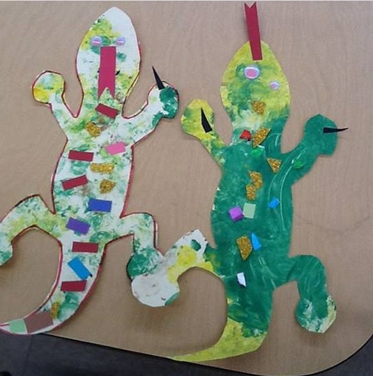 lizard craft preschool funny crafts