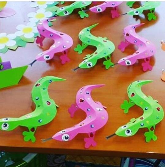 Lizard craft preschool Funny