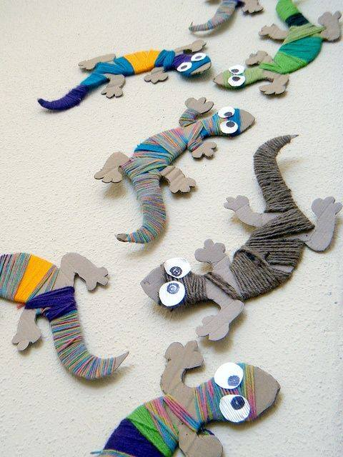 Lizard craft preschool The best crafts