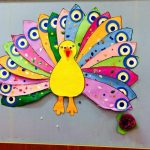 Peacock and turkey crafts for preschool