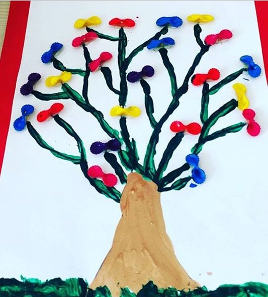 Photo of Pasta painting activity