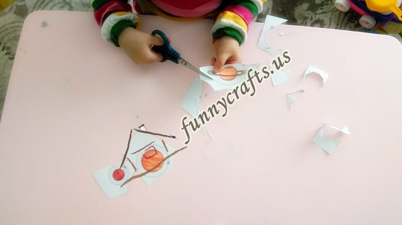 Solar System Cutting Activities Funny Crafts