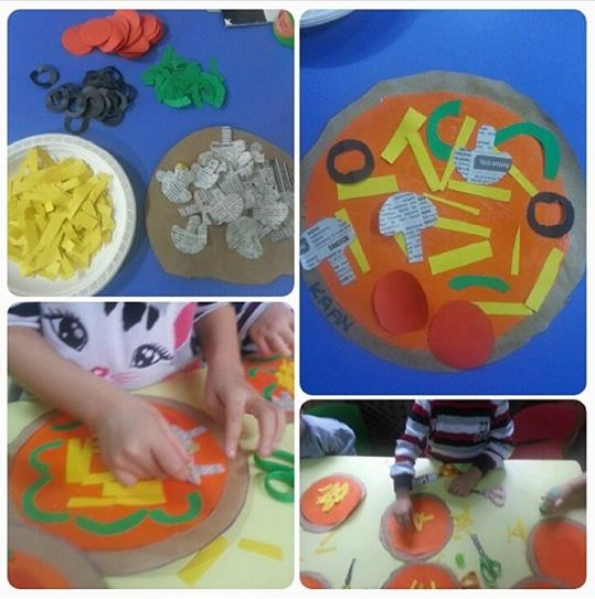 Pizza Craft Preschool Funny Crafts