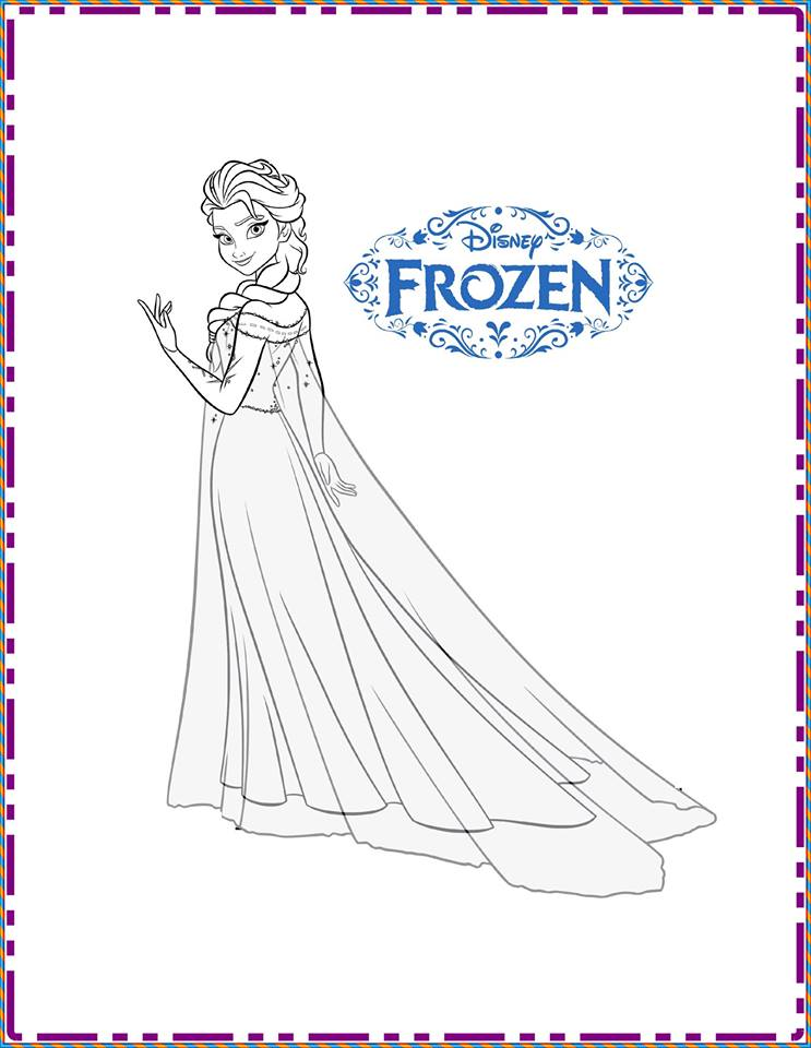 Photo of Frozen coloring pages