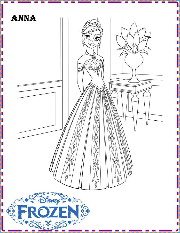 Frozen Coloring Pages Disney 6