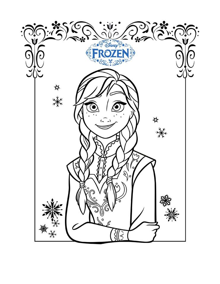 Frozen Coloring Pages Funny Crafts