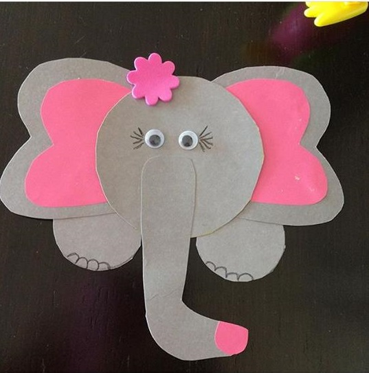 Elephant art and craft for preschool