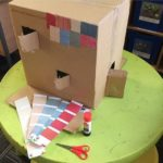 Cardboard box house school project