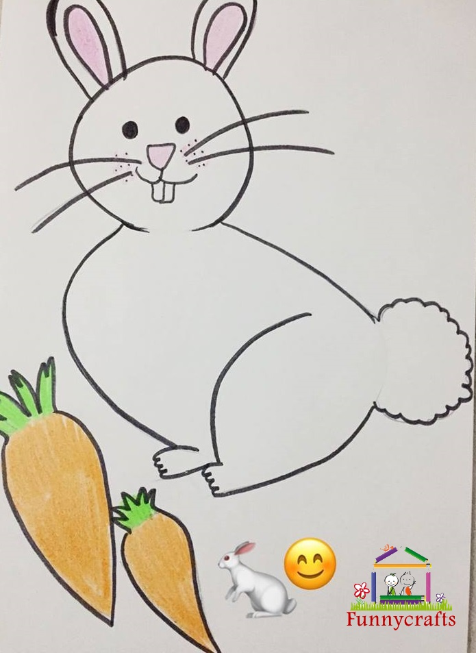 Photo of Easy bunny drawing