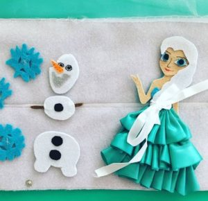 felt olaf and elsa craft