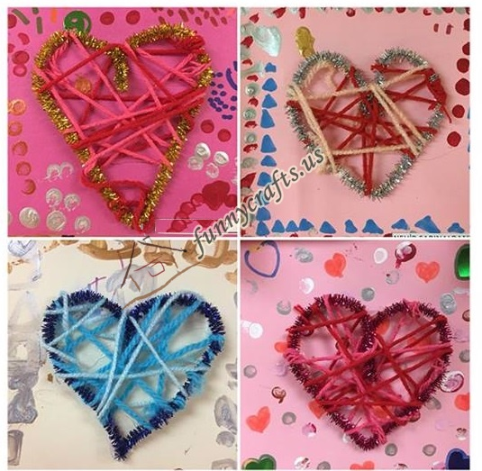 Photo of Heart craft with yarn