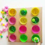 Homemade memory game for kids