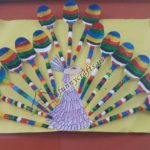 Plastic spoon peacock craft