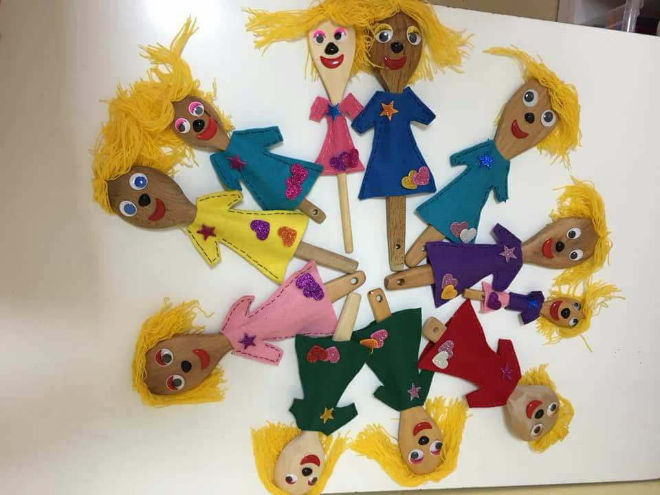 Photo of Wooden spoon puppet craft