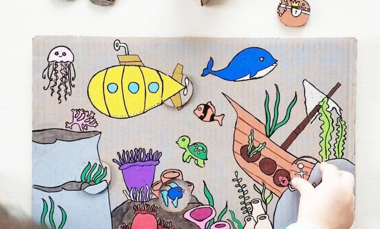 Photo of Cardboard Puzzle Craft Ideas for Kids